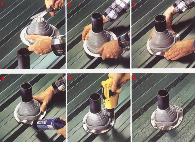 Как заделать отверстие в металлочерепице